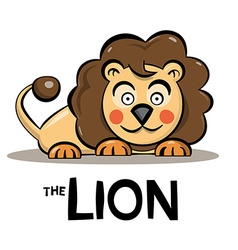 Lion Cartoon - Cute Animal Isolated on White vector image vector image