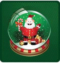 snow globe with santa vector image vector image
