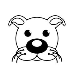 dog mascot cartoon isolated icon vector image