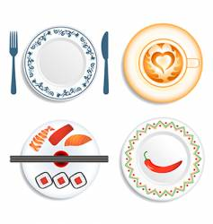 meal time vector image vector image