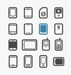 mobile phones set vector image vector image