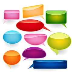 Speech bubbles of traditional and original forms vector image