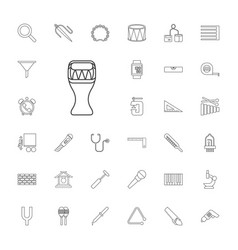 33 instrument icons vector image