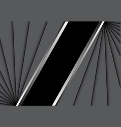 abstract gray overlab on black blank space vector image