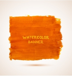 Abstract rectangle orange watercolor hand-drawn vector image