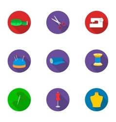 Atelie set icons in flat style Big collection of vector