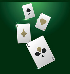 Banner with playing cards vector