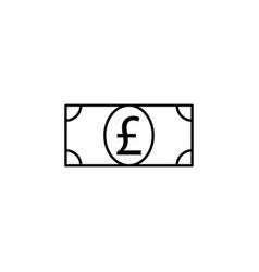 Bill money pound icon element of finance signs vector