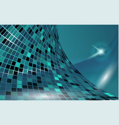 Blue cyberspace horizontal template vector