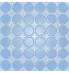 Blue plastic background with circles vector