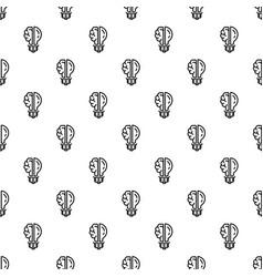 brain bulb pattern seamless vector image