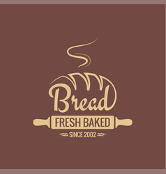 bread logo for bakery background vector image