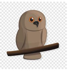 brown owl icon cartoon style vector image