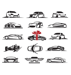 cars icons set vector image