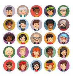 Cartoon people avatars collection vector