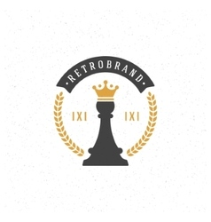 Chess Design Element in Vintage Style vector