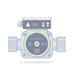 circulation pump vector image