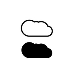 cloud icon simple flat symbol perfect black vector image