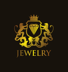 coat arms jewelry vector image