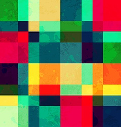 colorful square seamless pattern with blob effect vector image