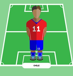 Computer game Chile Soccer club player vector