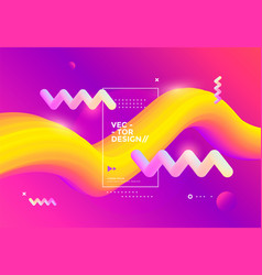 creative design 3d flow shape liquid wave vector image