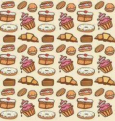 Cupcake seamless pattern vector image
