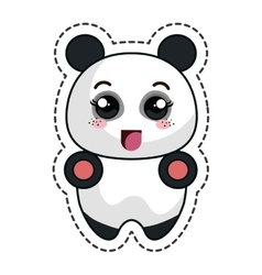 cute bear panda kawaii character vector image