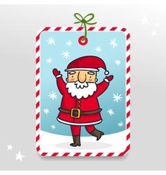 Cute Santa Claus gift tag vector image