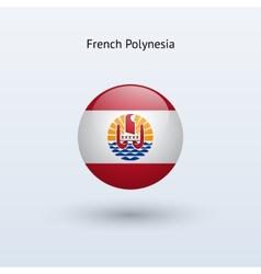 French Polynesia round flag vector