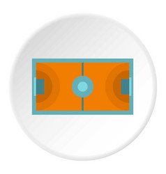 Futsal or indoor soccer field icon circle vector
