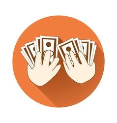 Giving money symbol vector image
