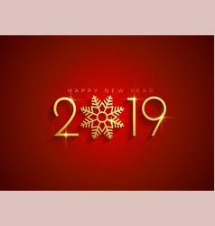 Golden 2019 happy new year background vector