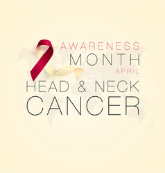 Head and neck cancer awareness calligraphy poster vector