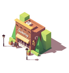 isometric bakery shop vector image
