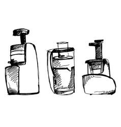 Juicer sketch squeezer doodle vector