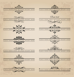 Large collection of ornate headpieces vector