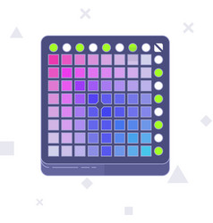 Launchpad midi controller flat line art vector
