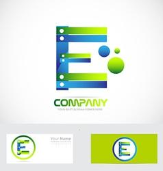 Letter E logo concept 3d vector image