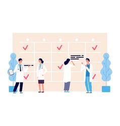 medical schedule doctors work schedule vector image