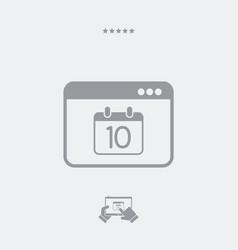 minimal calendar application icon vector image
