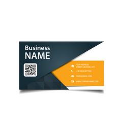 modern business card black and orange background v vector image