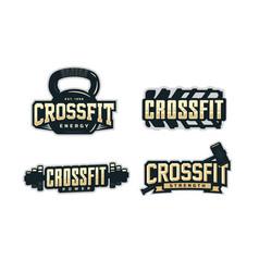Modern professional logo emblem set for crossfit vector