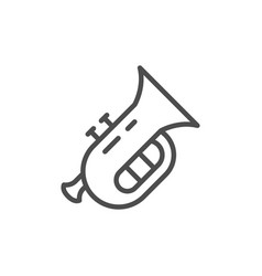 musical instrument tuba line outline icon vector image