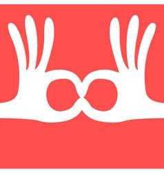 ok hand gesture mask vector image