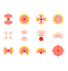 Pain icon circle with point target vector