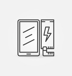 Phone battery replacement concept line icon vector
