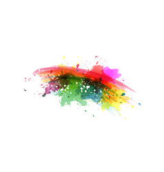 rainbow stain abstract watercolor background vector image