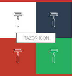 Razor icon white background vector