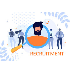 Recruitment banner with people search candidate vector